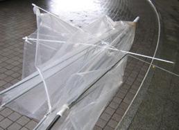 壊れたビニール傘